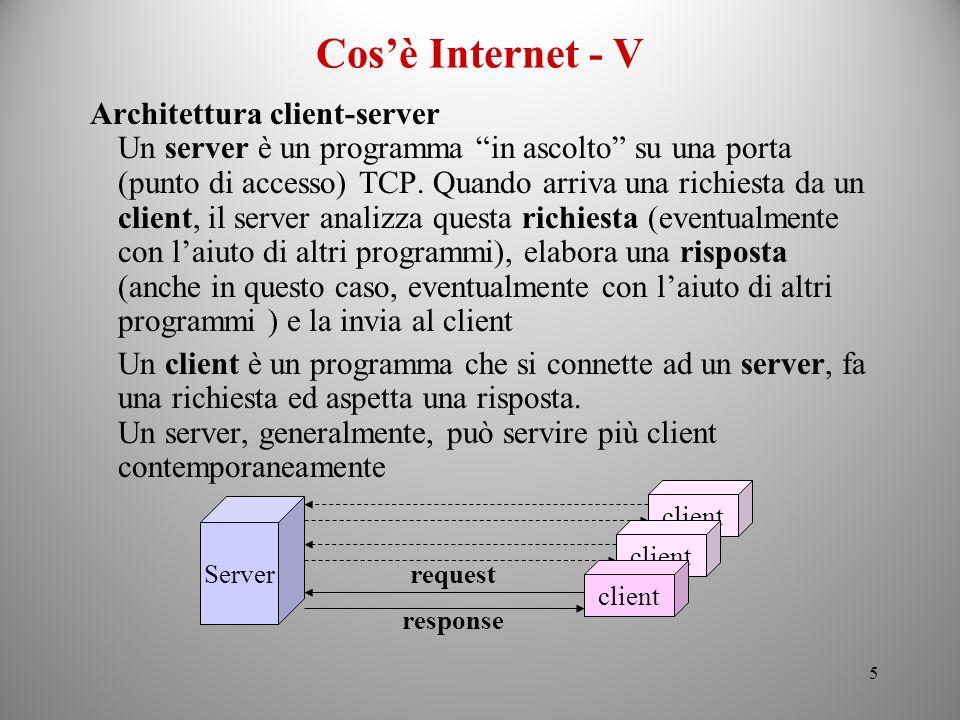 Cos'è Internet - V Architettura client-server