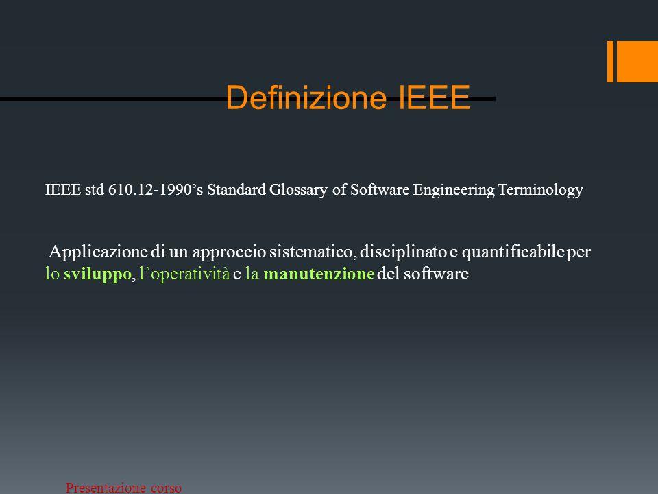 Definizione IEEEIEEE std 610.12-1990's Standard Glossary of Software Engineering Terminology.