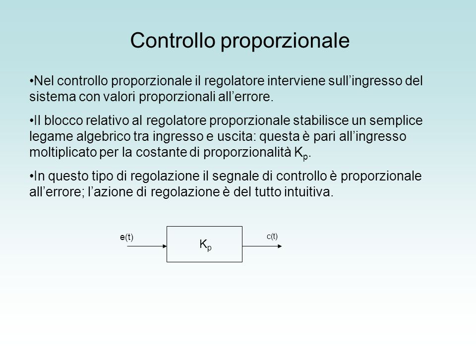 Controllo proporzionale