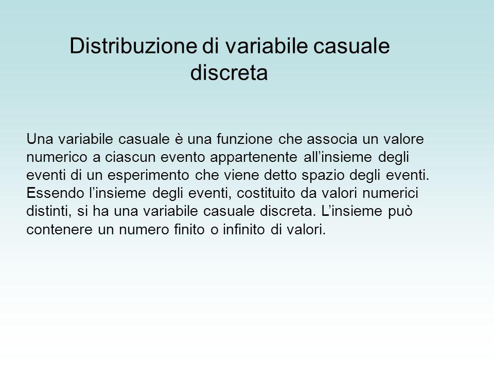 Distribuzione di variabile casuale discreta
