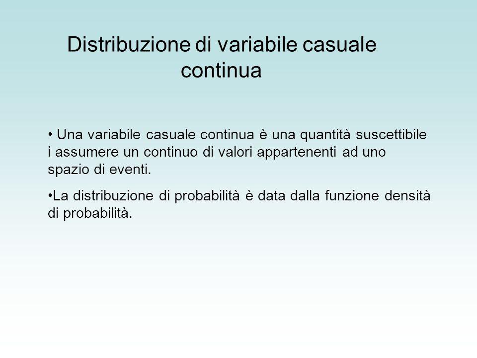 Distribuzione di variabile casuale continua