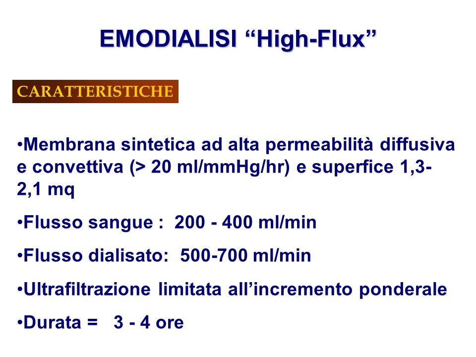 EMODIALISI High-Flux