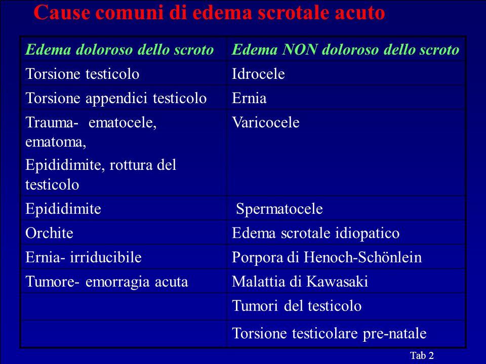 Cause comuni di edema scrotale acuto