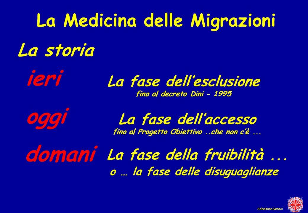 ieri oggi domani La Medicina delle Migrazioni La storia