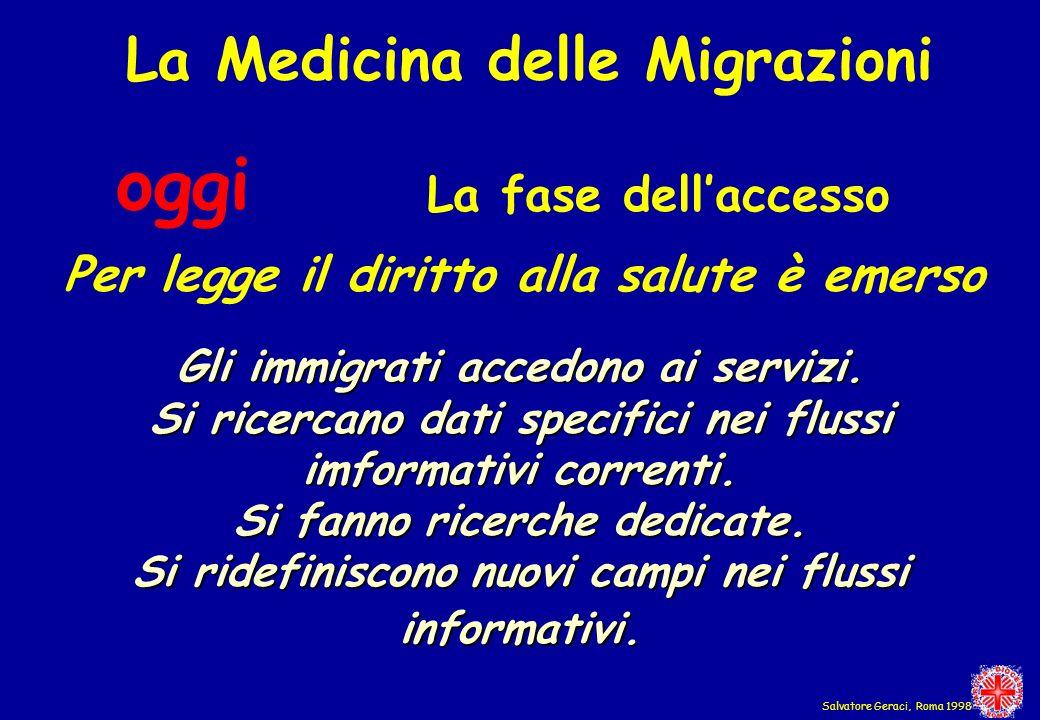 oggi La Medicina delle Migrazioni La fase dell'accesso
