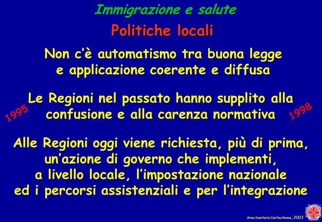Politiche locali Immigrazione e salute