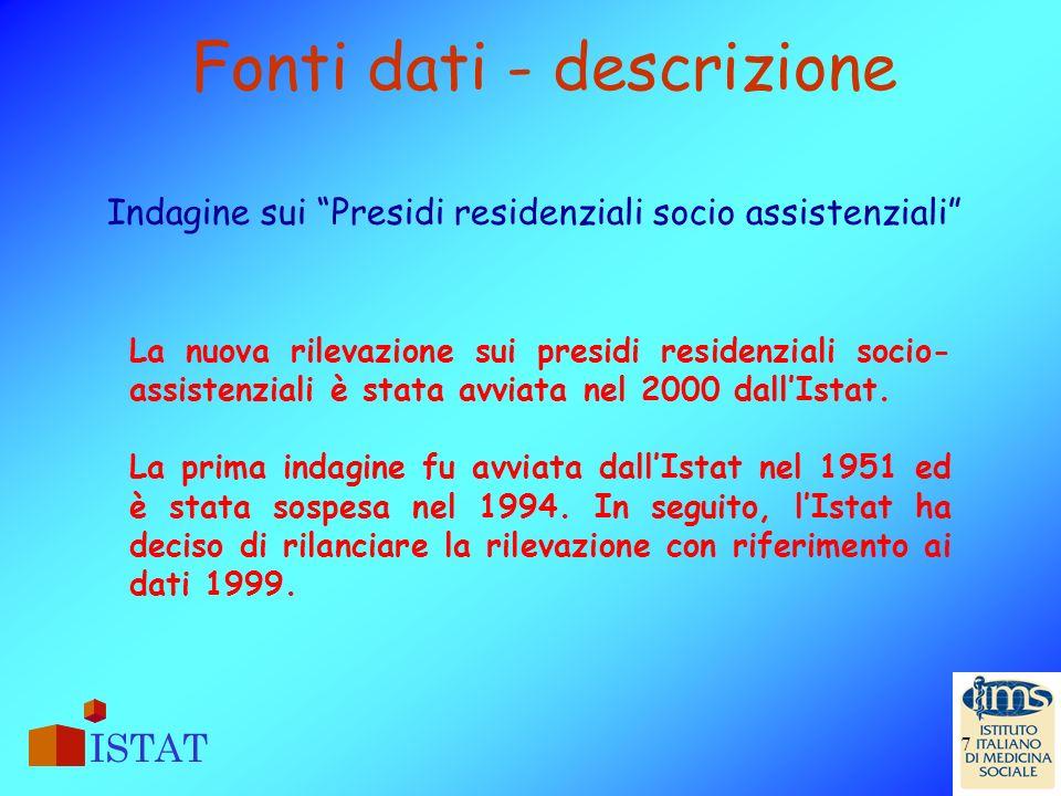 Fonti dati - descrizione