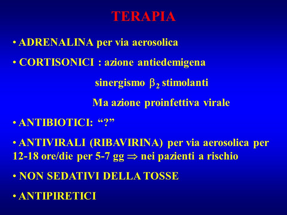 TERAPIA ADRENALINA per via aerosolica