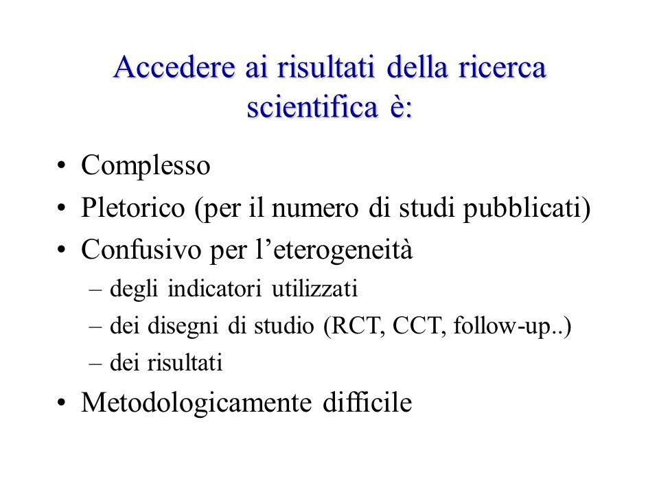 Accedere ai risultati della ricerca scientifica è: