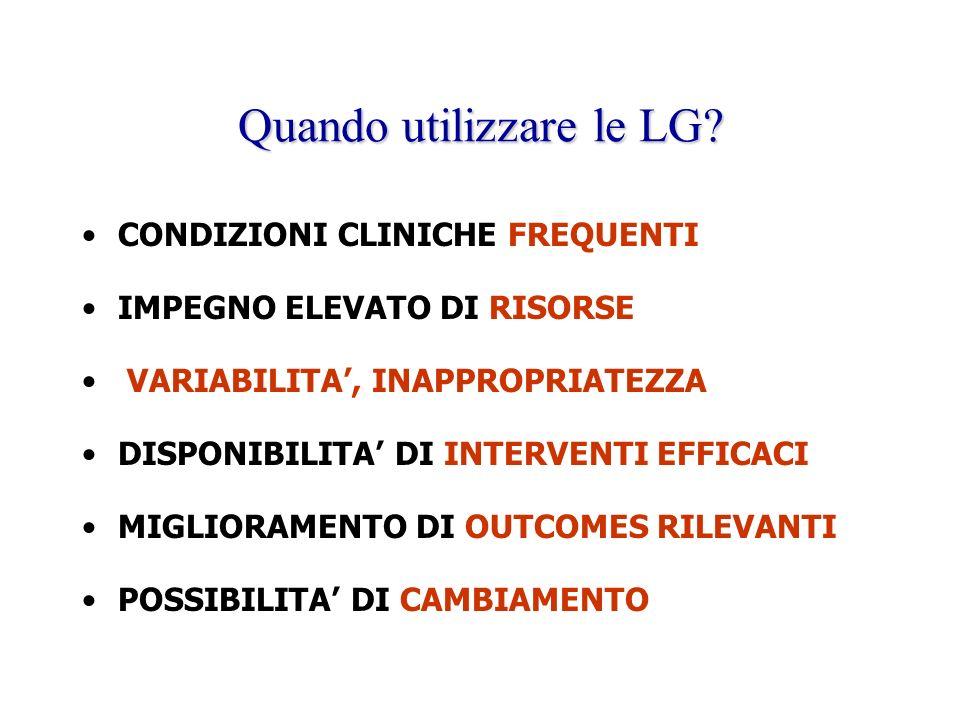 Quando utilizzare le LG