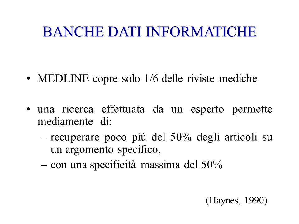 BANCHE DATI INFORMATICHE