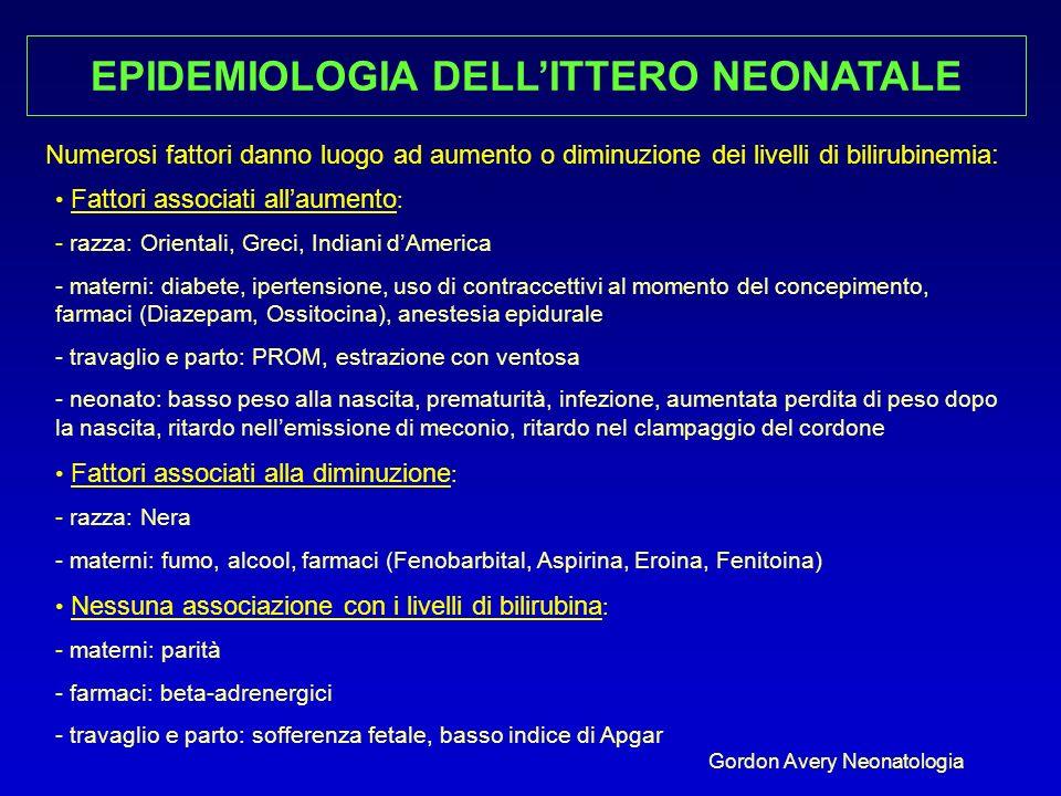 EPIDEMIOLOGIA DELL'ITTERO NEONATALE