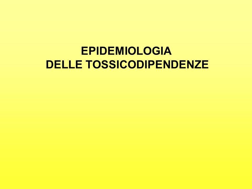 DELLE TOSSICODIPENDENZE
