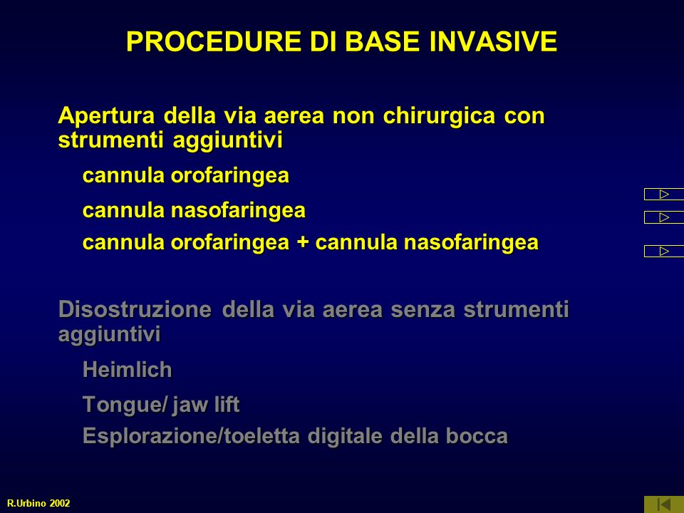 PROCEDURE DI BASE INVASIVE