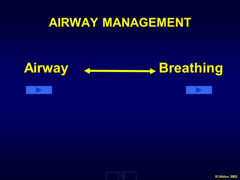 AIRWAY MANAGEMENT Airway Breathing R.Urbino 2002