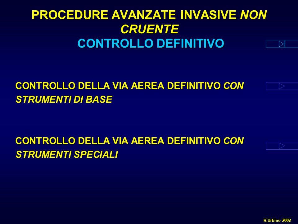 PROCEDURE AVANZATE INVASIVE NON CRUENTE CONTROLLO DEFINITIVO