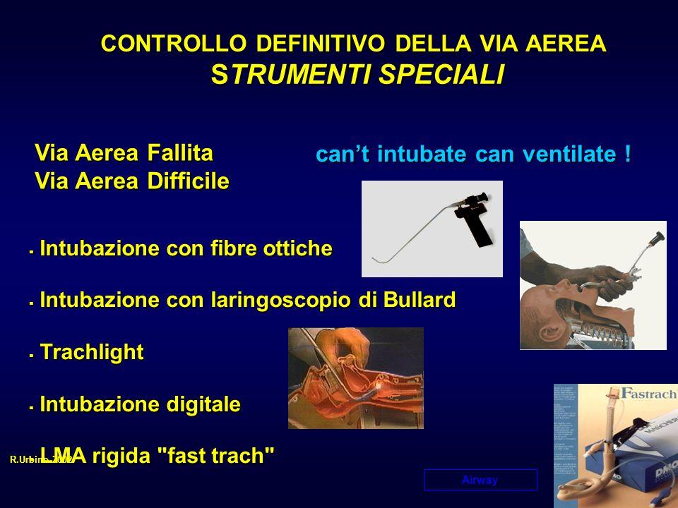 CONTROLLO DEFINITIVO DELLA VIA AEREA STRUMENTI SPECIALI