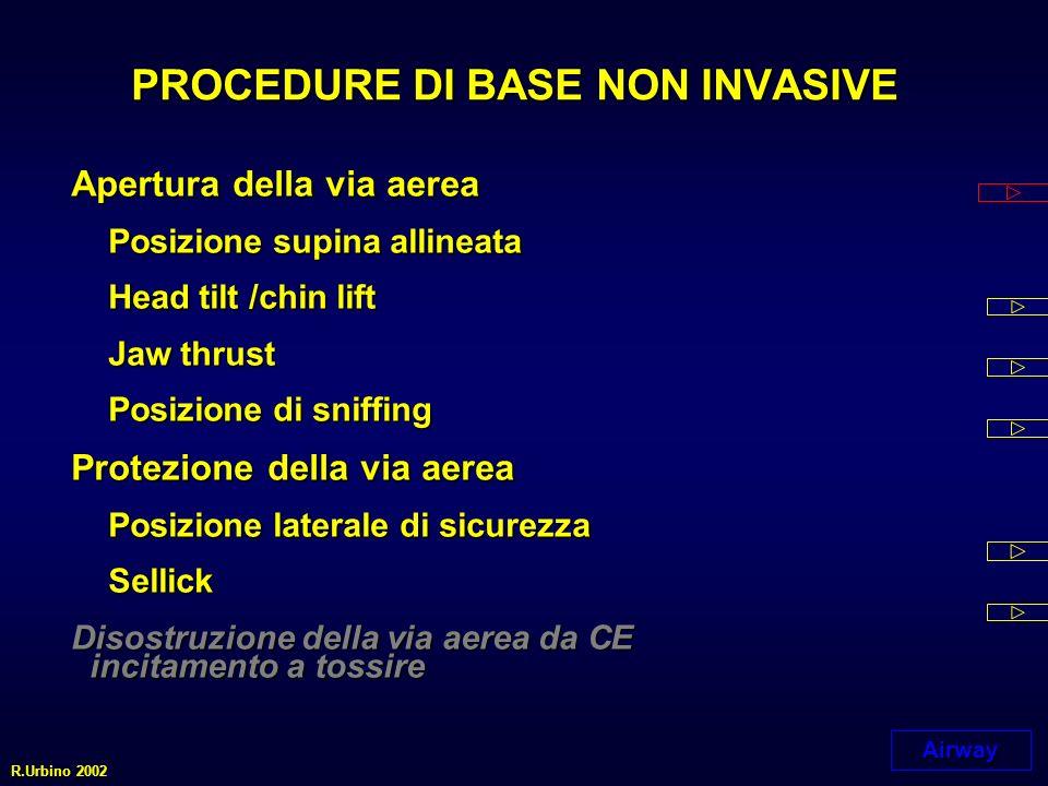 PROCEDURE DI BASE NON INVASIVE