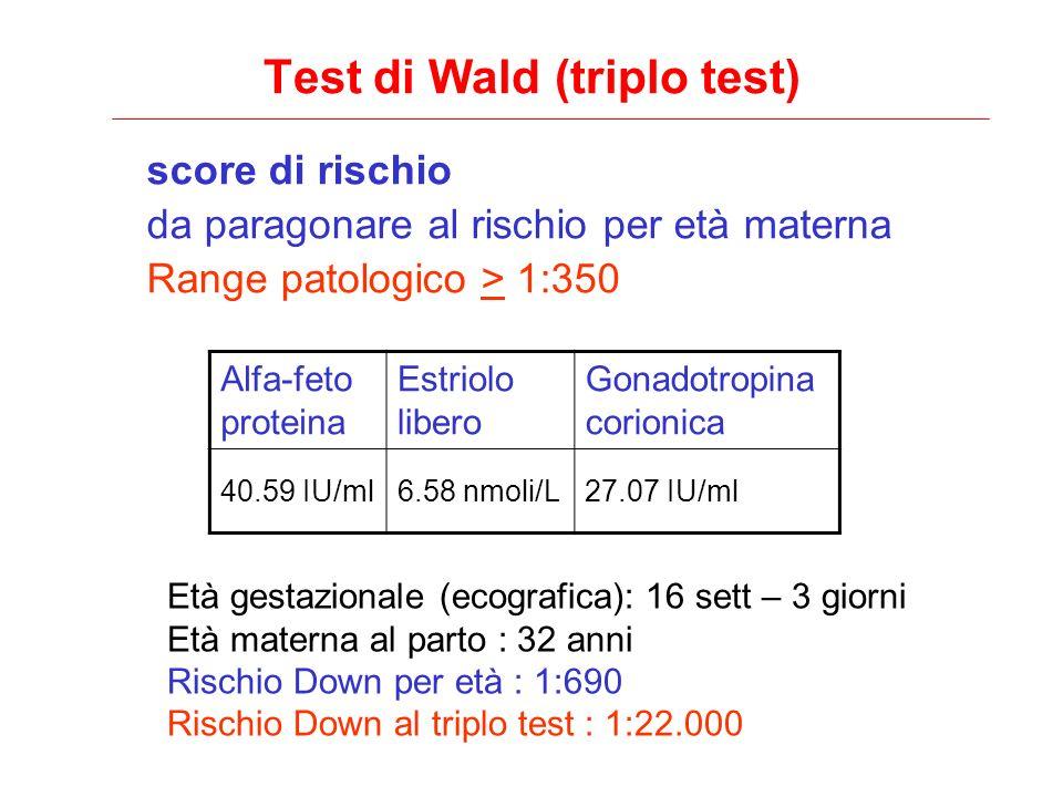Test di Wald (triplo test)