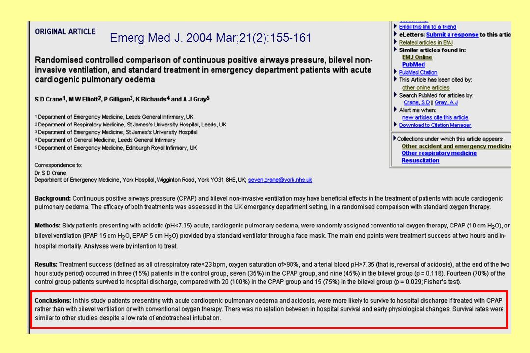 Emerg Med J. 2004 Mar;21(2):155-161 Un altra asperità