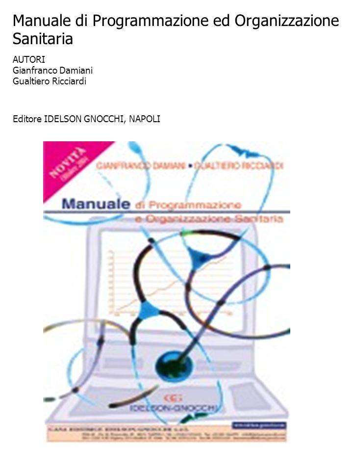Manuale di Programmazione ed Organizzazione Sanitaria