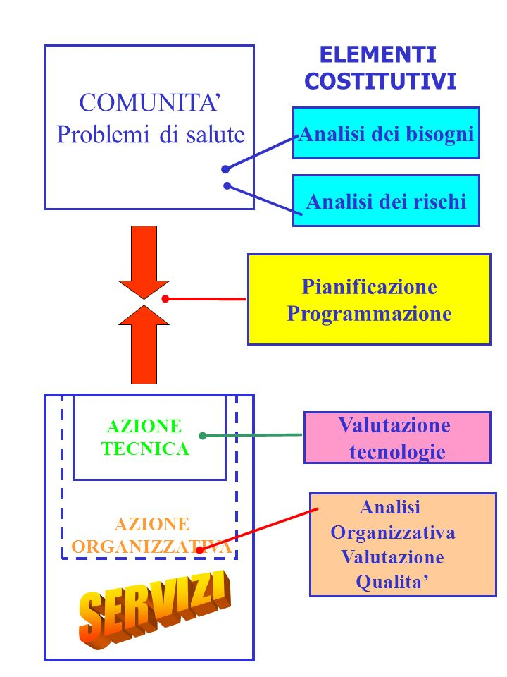 SERVIZI COMUNITA' Problemi di salute ELEMENTI COSTITUTIVI