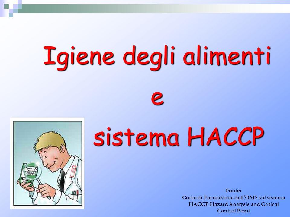 Igiene degli alimenti e sistema HACCP Fonte: