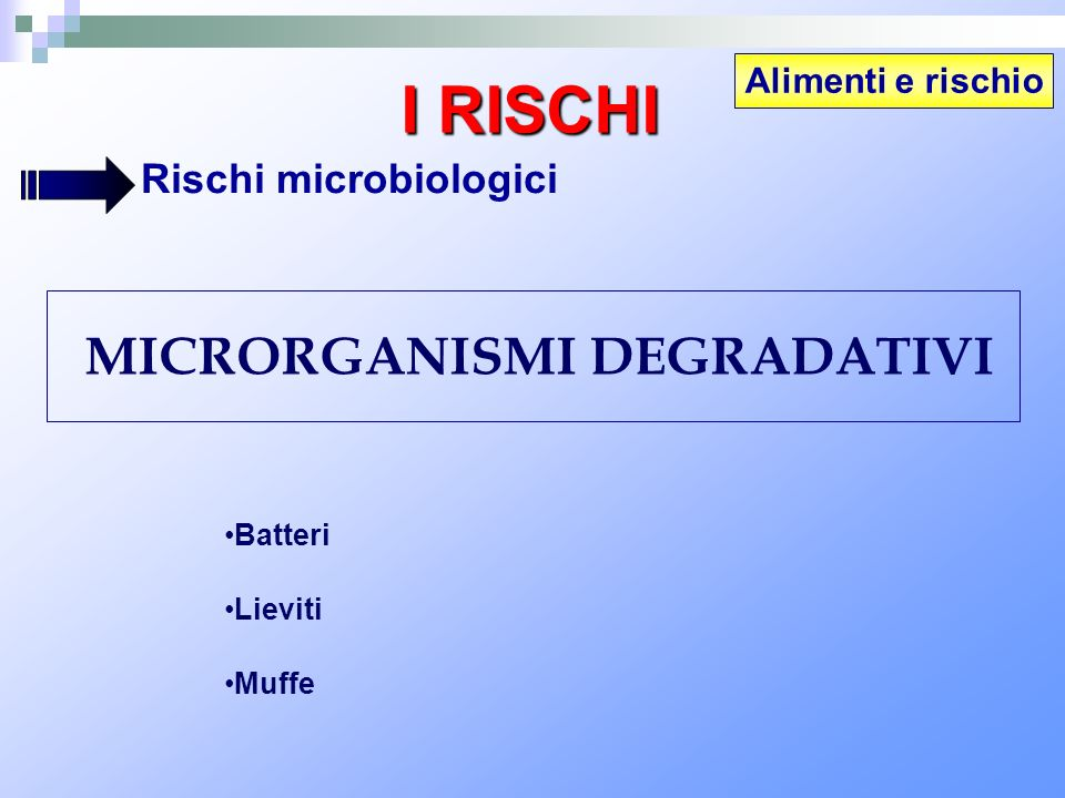 MICRORGANISMI DEGRADATIVI