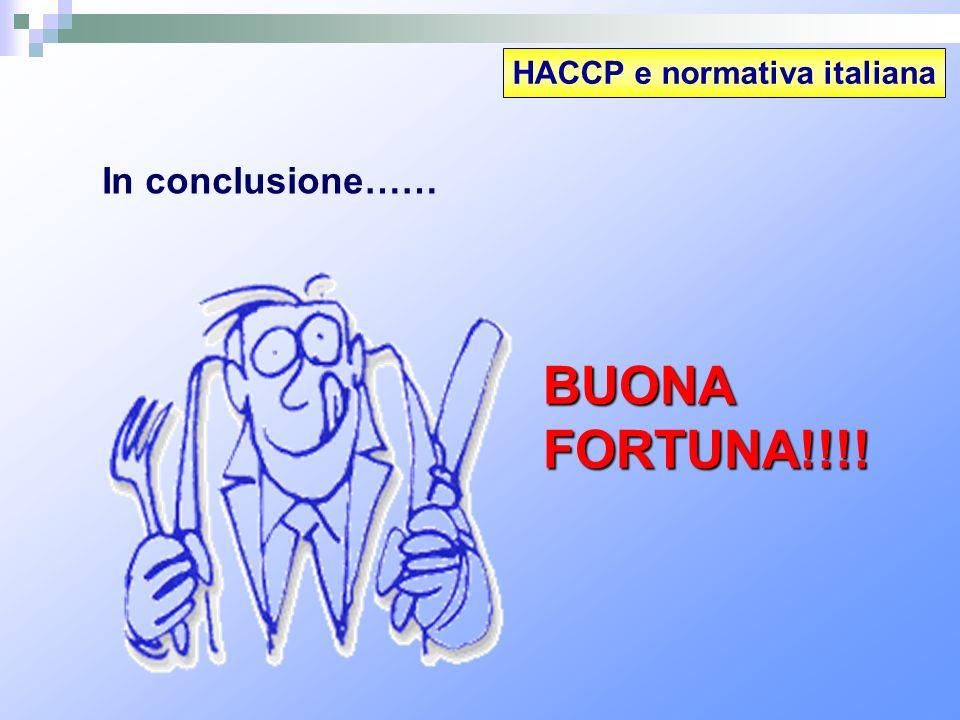 HACCP e normativa italiana