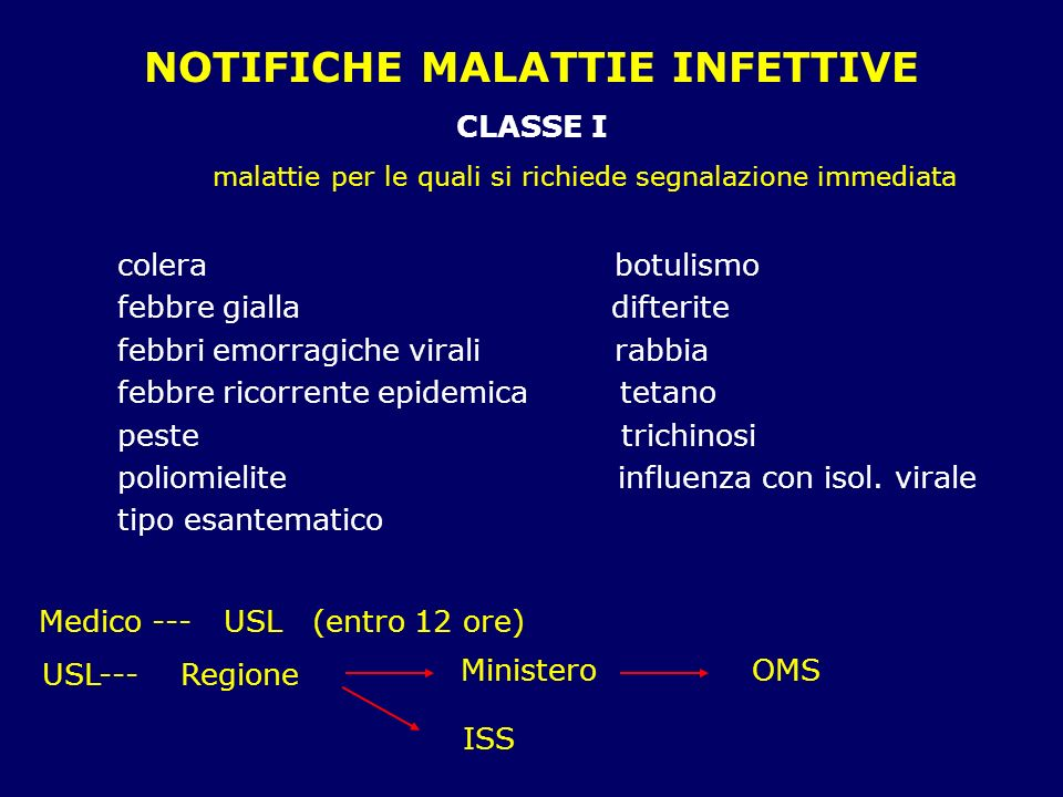 NOTIFICHE MALATTIE INFETTIVE