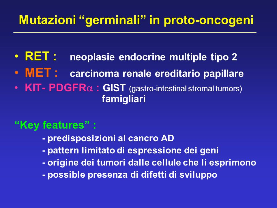 Mutazioni germinali in proto-oncogeni