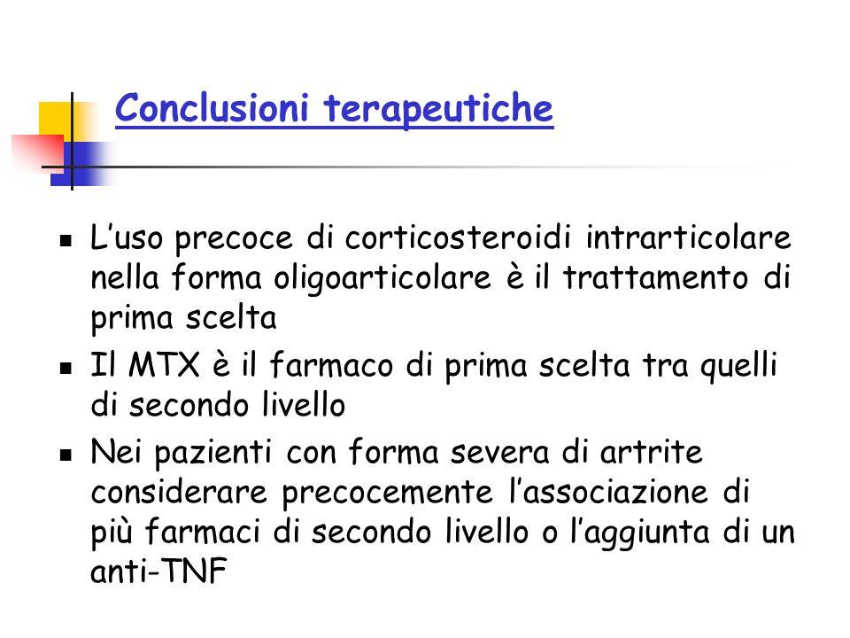 Conclusioni terapeutiche