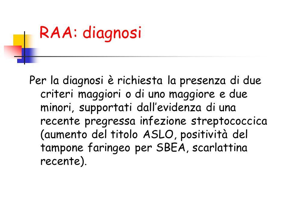 RAA: diagnosi