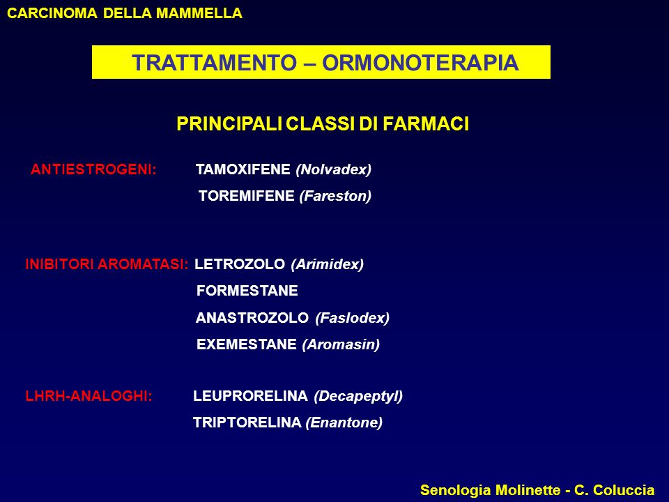 PRINCIPALI CLASSI DI FARMACI