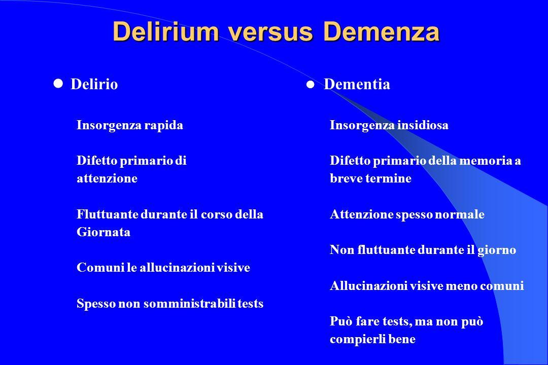 Delirium versus Demenza