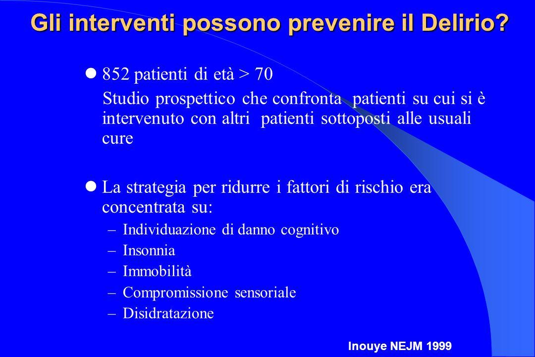 Gli interventi possono prevenire il Delirio
