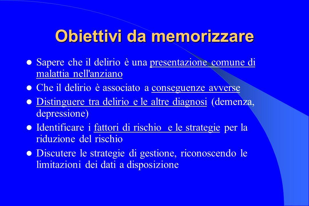 Obiettivi da memorizzare