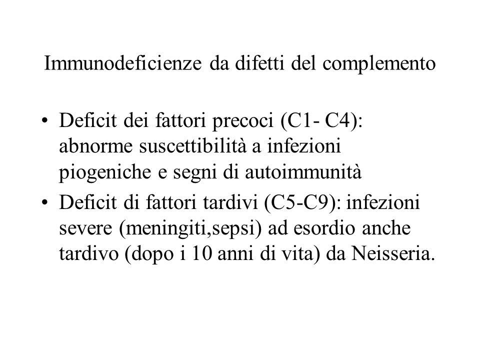 Immunodeficienze da difetti del complemento