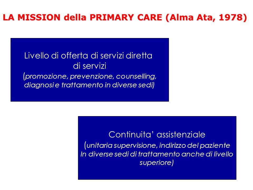 LA MISSION della PRIMARY CARE (Alma Ata, 1978)