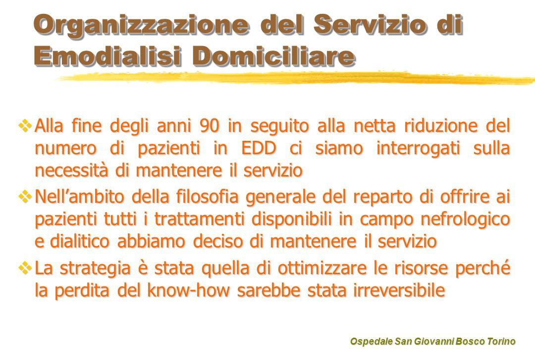 Organizzazione del Servizio di Emodialisi Domiciliare