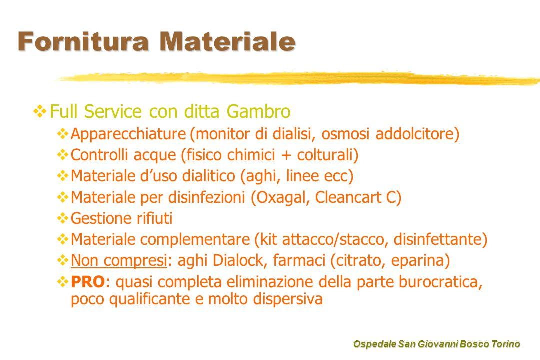 Fornitura Materiale Full Service con ditta Gambro