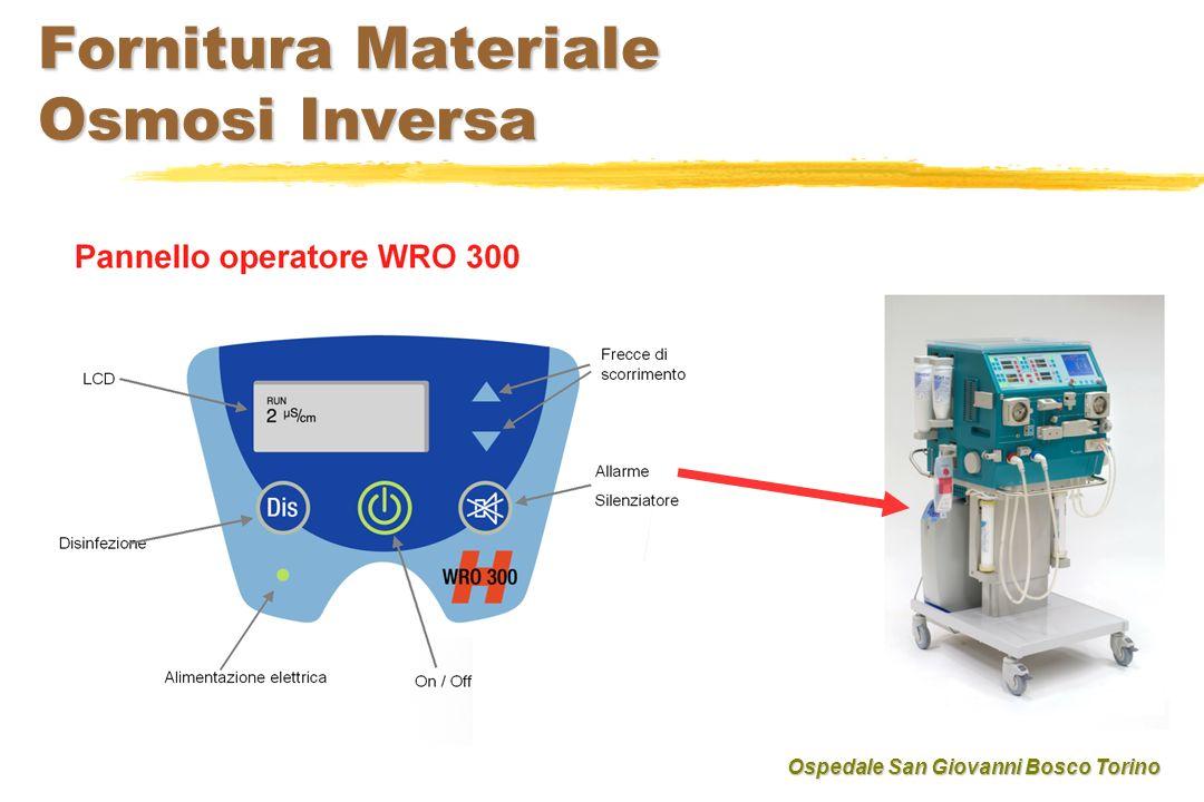 Fornitura Materiale Osmosi Inversa