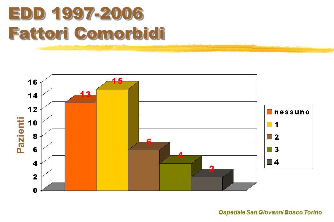 EDD 1997-2006 Fattori Comorbidi