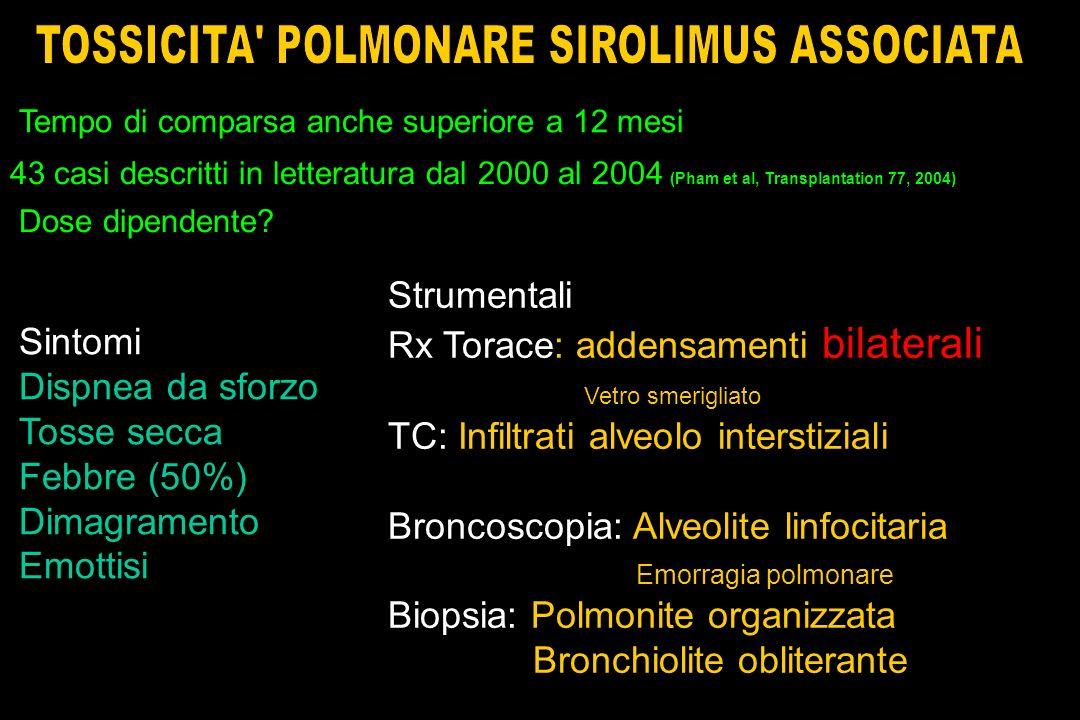 TOSSICITA POLMONARE SIROLIMUS ASSOCIATA