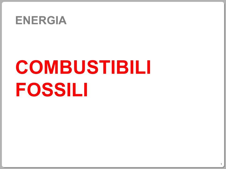 ENERGIA COMBUSTIBILI FOSSILI