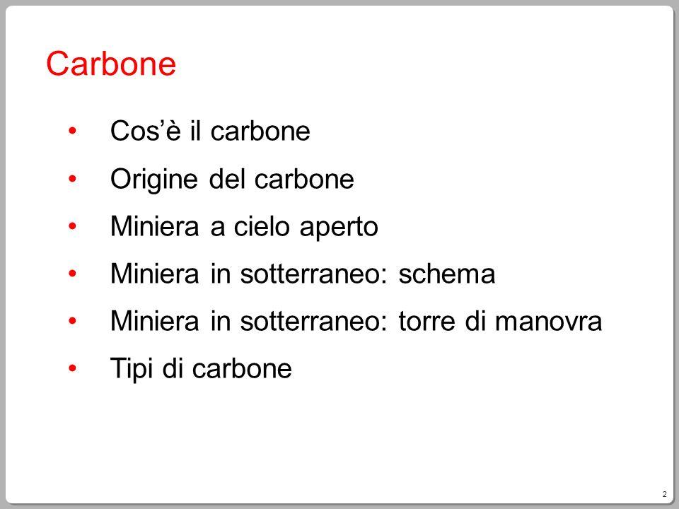 Carbone Cos'è il carbone Origine del carbone Miniera a cielo aperto