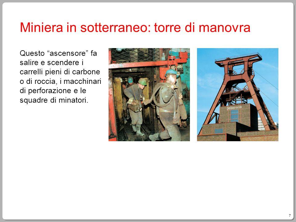 Miniera in sotterraneo: torre di manovra