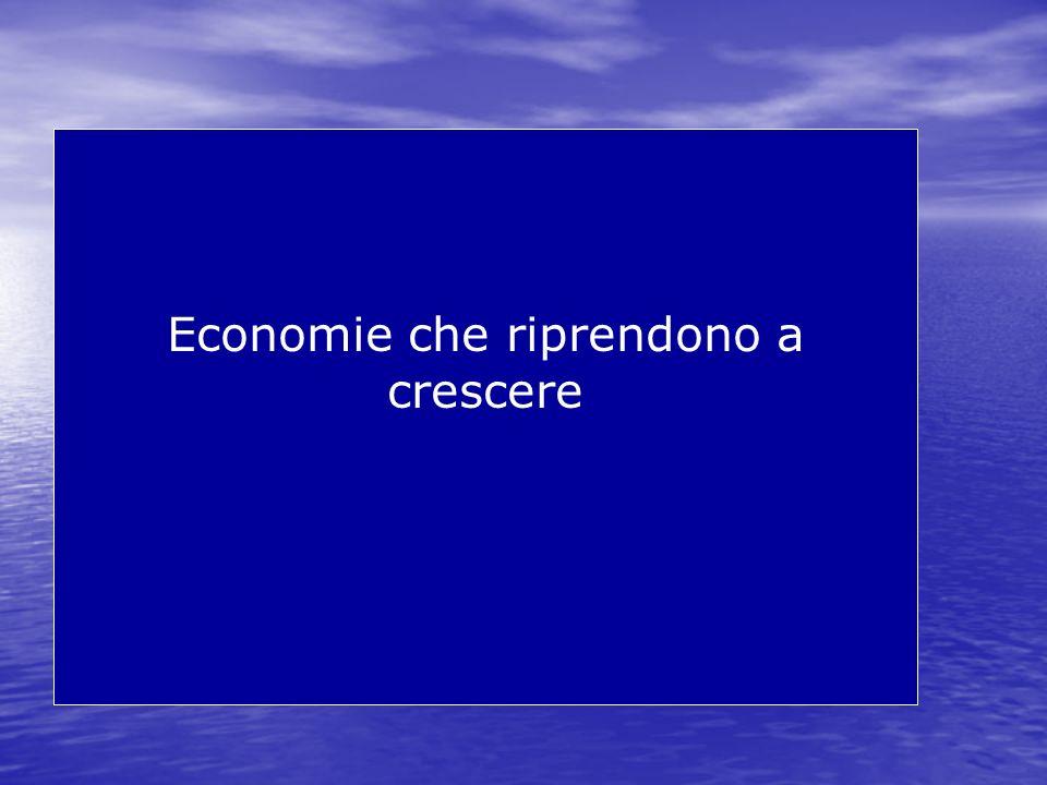 Economie che riprendono a