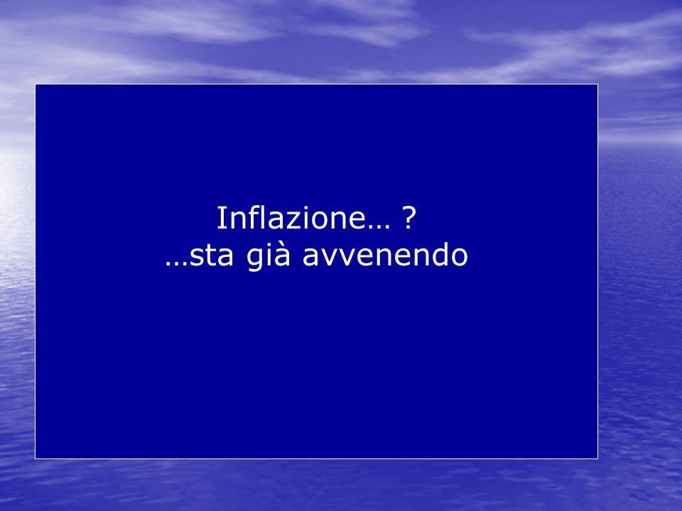 Inflazione… …sta già avvenendo