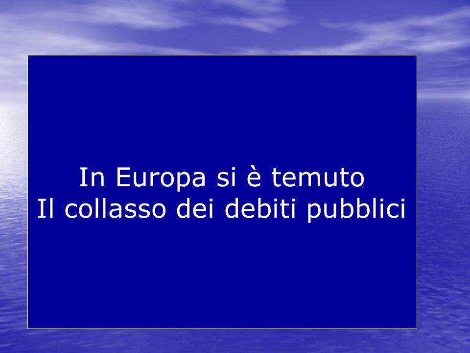 Il collasso dei debiti pubblici